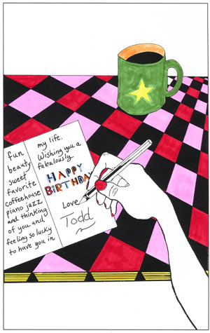 colored birthday card